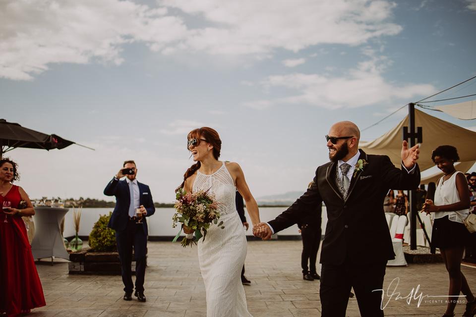 Reportajes de boda, llegada al cóctel 04