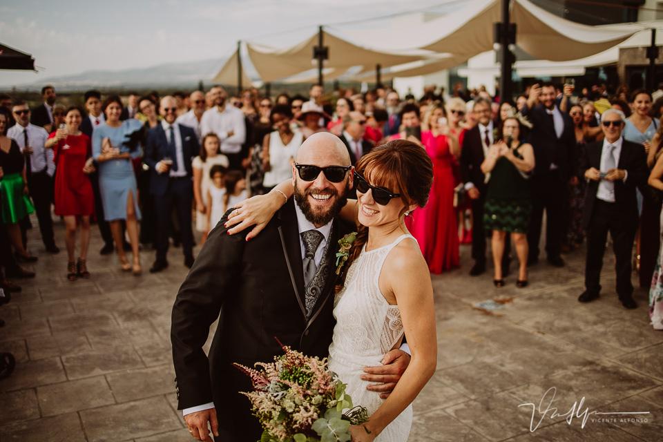 Reportajes de boda, llegada al cóctel 08
