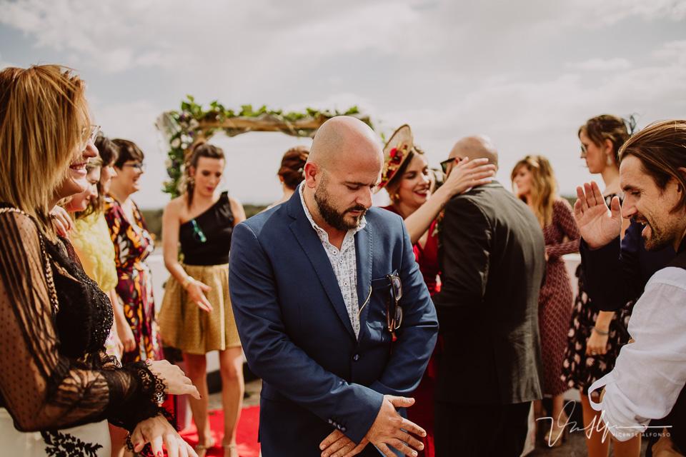 Reportajes de boda, llegada al cóctel 16