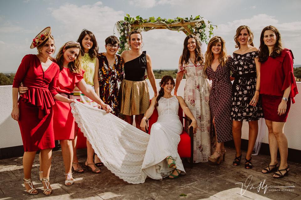 Reportajes de boda, llegada al cóctel 17