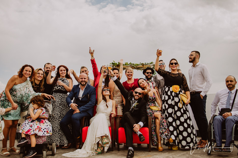 Reportajes de boda, llegada al cóctel 20