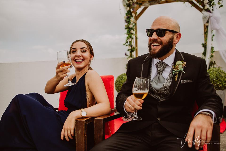Reportajes de boda, llegada al cóctel 22