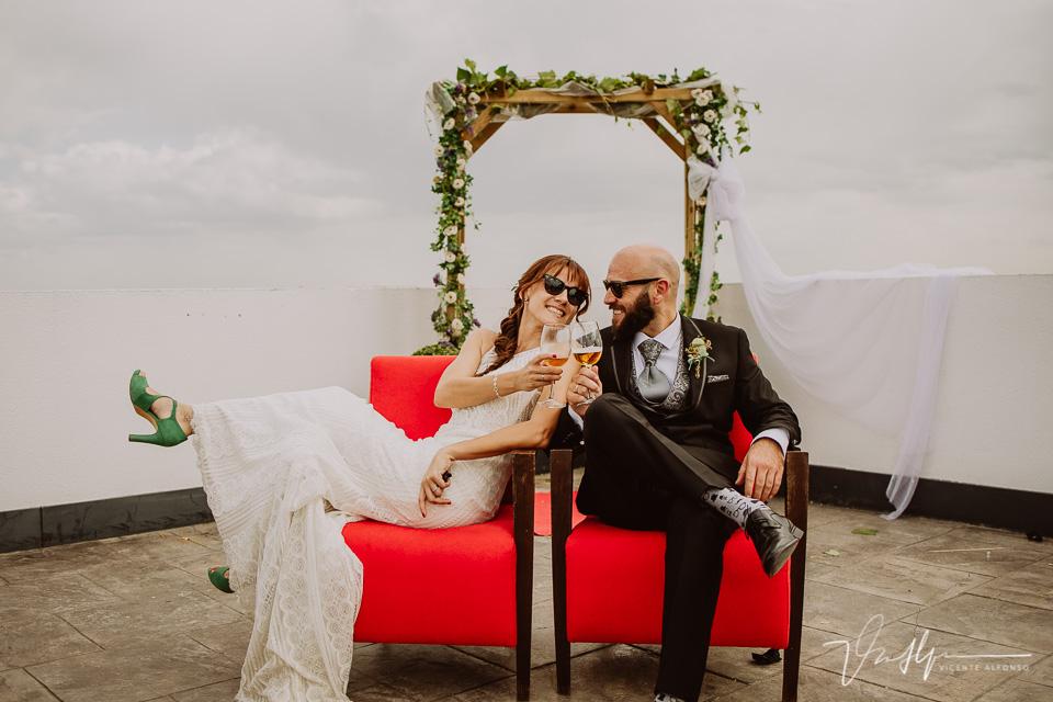 Reportajes de boda, llegada al cóctel 23