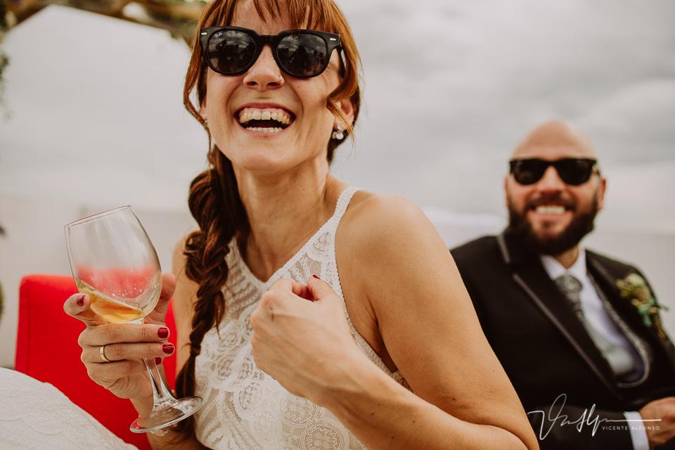 Reportajes de boda, llegada al cóctel 24